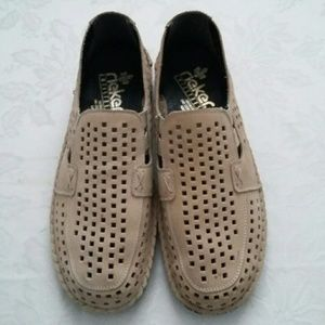 Rieker leather loafers NWOT